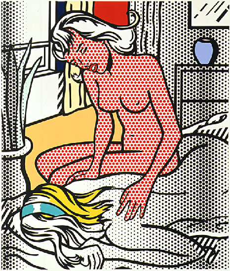 '两个裸体(1994)', 油 通过 Roy Lichtenstein (1923-1997, United States)