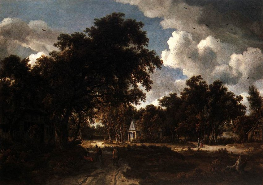 异国画苑(877)转荷兰风景画家梅因德尔特·霍贝玛 (Meindert Hobbema)作品 - 笑然 - xiaoran321456 的博客