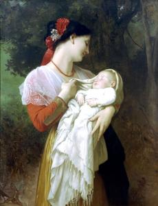 William Adolphe Bouguereau - 产妇钦佩