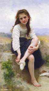 William Adolphe Bouguereau - 洗澡前