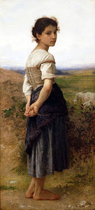 William Adolphe Bouguereau - 青年牧羊女