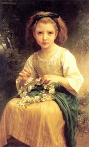 William Adolphe Bouguereau - 朗方tressant UNE Couronne的