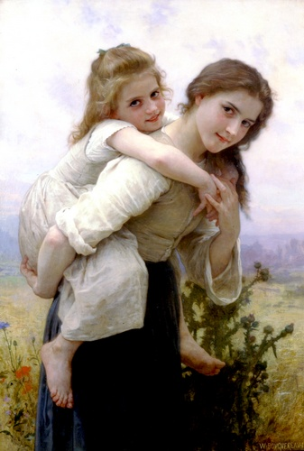 愉快的负担 通过 William Adolphe Bouguereau (1825-1905, France) | 畫再現 | WahooArt.com
