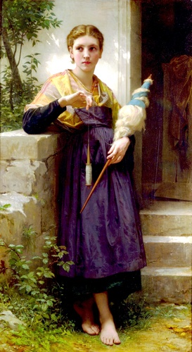 Fileuse 通过 William Adolphe Bouguereau (1825-1905, France) | WahooArt.com