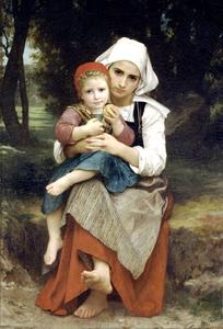 William Adolphe Bouguereau - 布雷顿兄弟姐妹