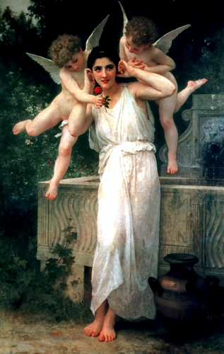 青春 通过 William Adolphe Bouguereau (1825-1905, France) | 幀畫冊專輯 | WahooArt.com