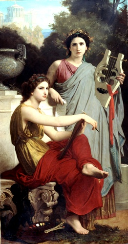 LART和文学, 油 通过 William Adolphe Bouguereau (1825-1905, France)