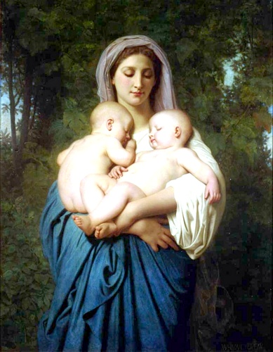慈善1859 通过 William Adolphe Bouguereau (1825-1905, France) | WahooArt.com
