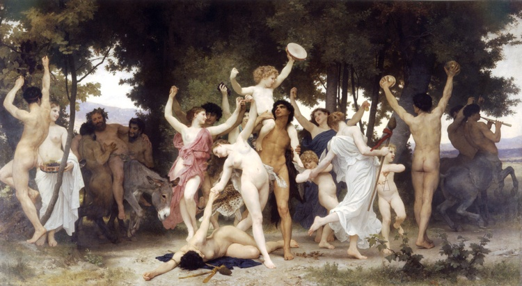酒神青年 通过 William Adolphe Bouguereau (1825-1905, France) | 幀畫冊專輯 | WahooArt.com