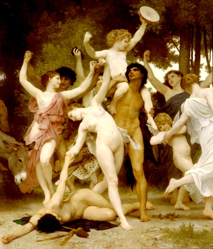 青年中心酒神DT 通过 William Adolphe Bouguereau (1825-1905, France) | 畫再現 | WahooArt.com