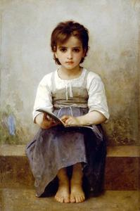 William Adolphe Bouguereau - 在沉痛的教训