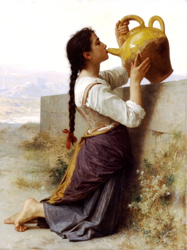 香格里拉SOIF, 油 通过 William Adolphe Bouguereau (1825-1905, France)