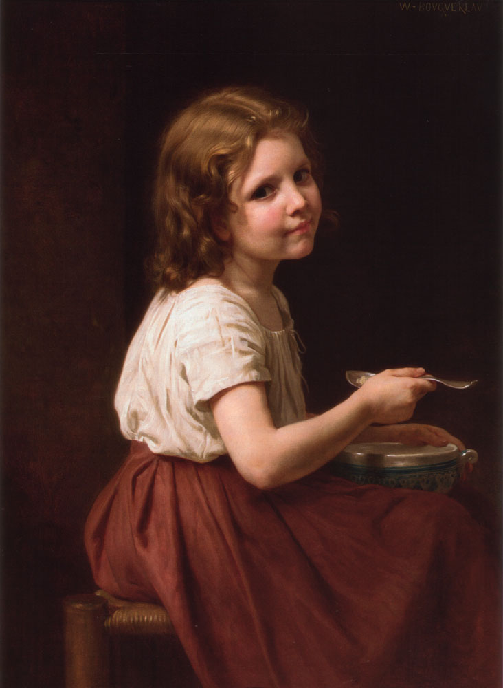 香格里拉SOUPE 通过 William Adolphe Bouguereau (1825-1905, France) | 畫再現 | WahooArt.com