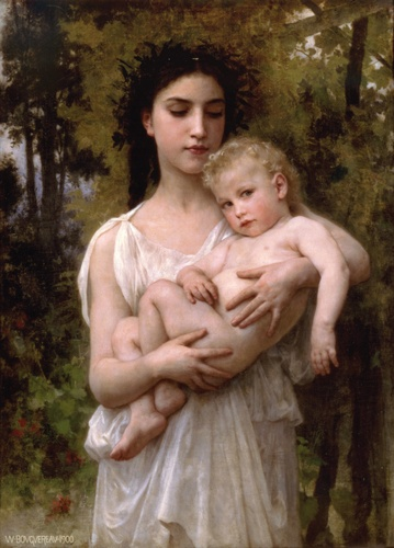 弟弟1900 通过 William Adolphe Bouguereau (1825-1905, France) | 幀打印 | WahooArt.com