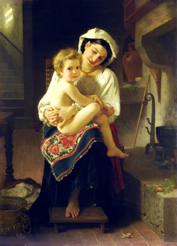 该杠杆, 油 通过 William Adolphe Bouguereau (1825-1905, France)