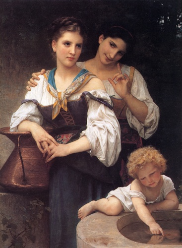 秘密 通过 William Adolphe Bouguereau (1825-1905, France) | WahooArt.com