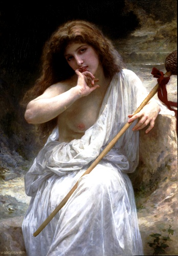 Mailice, 油 通过 William Adolphe Bouguereau (1825-1905, France)