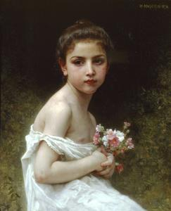 William Adolphe Bouguereau - 小女孩的一束