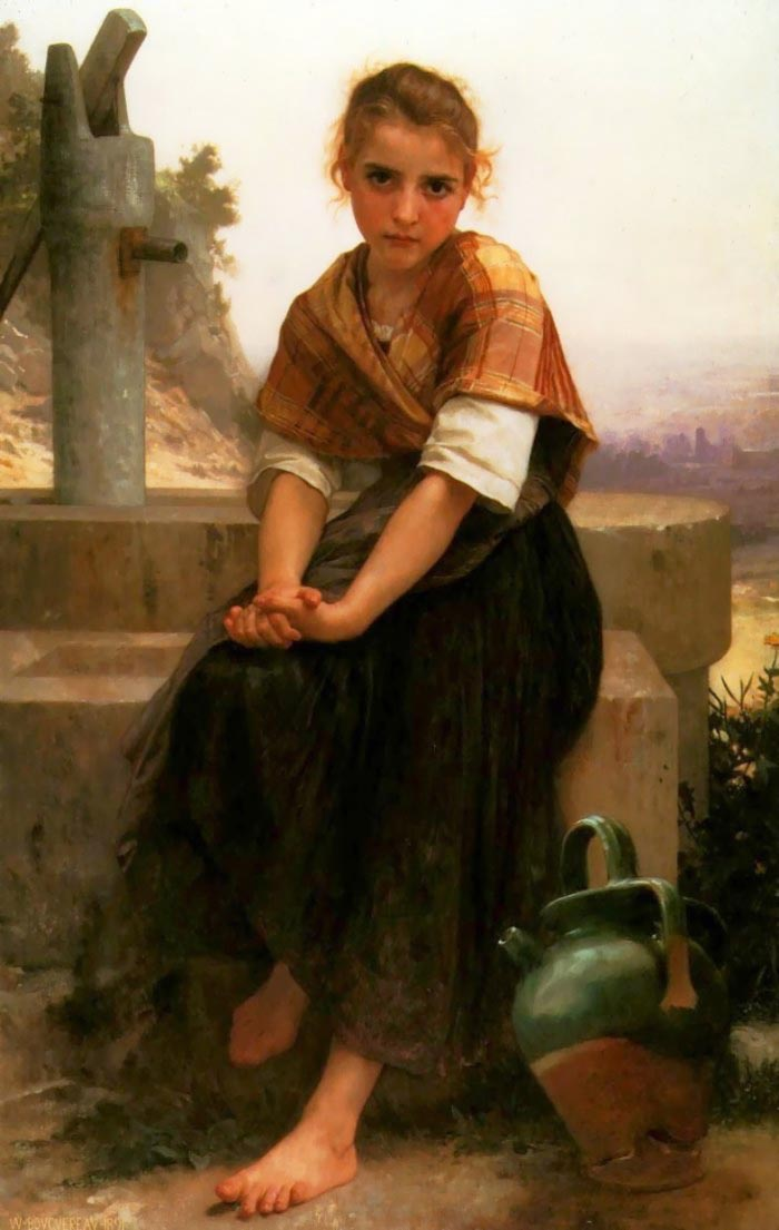 残破的投手, 油 通过 William Adolphe Bouguereau (1825-1905, France)