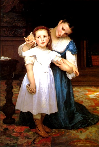 壳牌, 油 通过 William Adolphe Bouguereau (1825-1905, France)