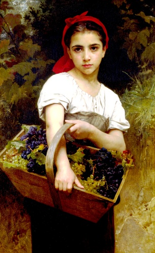 收割机, 油 通过 William Adolphe Bouguereau (1825-1905, France)