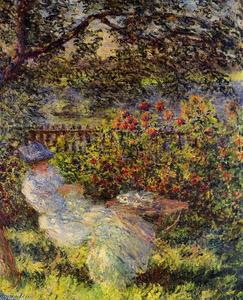Claude Monet - Alice Hoschede  在花园里