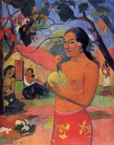 Paul Gauguin - 女性  控股  一个水果