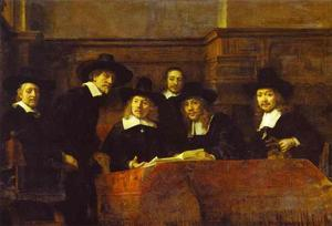 Rembrandt Van Rijn - 在Clothmakers行会的Syndics(该Staalmeesters)
