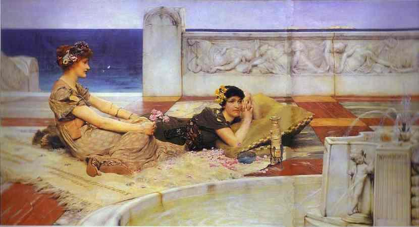 """爱信徙"", 油 通过 lawrence alma-tadema (1836-1912"