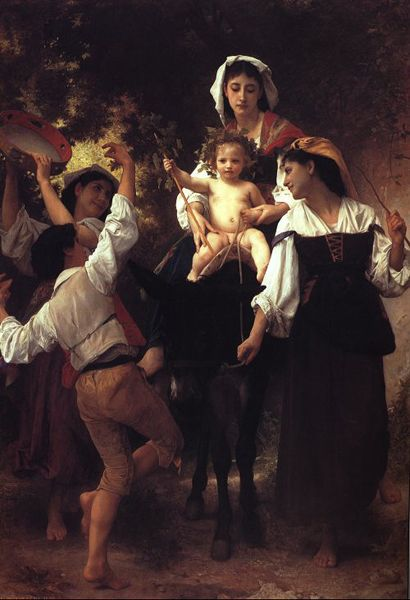 从收获返回, 油 通过 William Adolphe Bouguereau (1825-1905, France)
