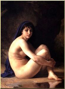 William Adolphe Bouguereau -  坐在 裸体