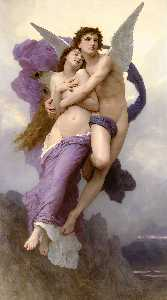 赛琪绑架, 油 通过 William Adolphe Bouguereau  (顺序 美術 打印在畫布上 William Adolphe Bouguereau)