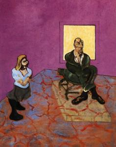 Francis Bacon - 人和 孩子  1963