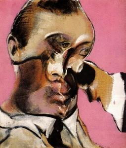 Francis Bacon -  三  研究  为 肖像 1968   乙