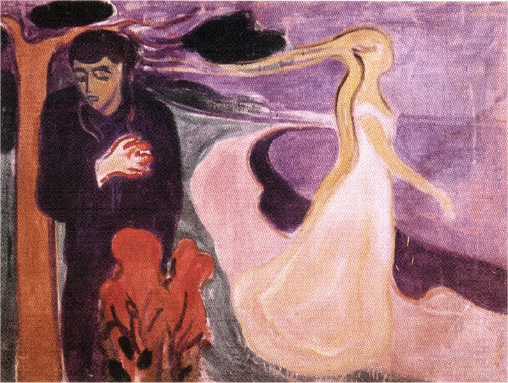 分割, 1896 通过 Edvard Munch (1863-1944, Sweden)