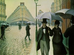 Gustave Caillebotte - 巴黎街头,雨天