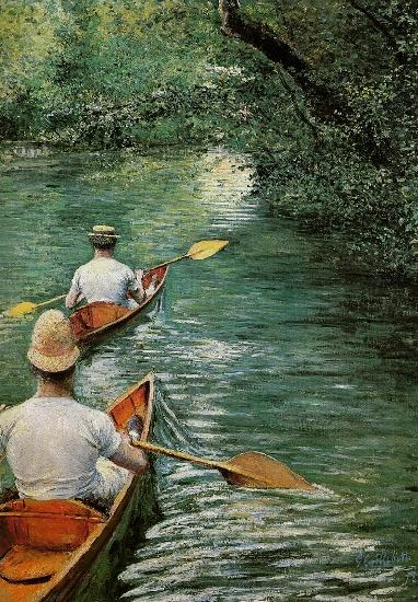 Perissoires又名独木舟 通过 Gustave Caillebotte (1848-1894, France) | WahooArt.com
