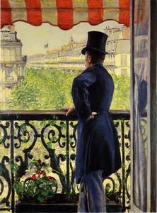 Gustave Caillebotte - 男人 对  的  阳台
