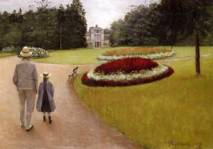 Gustave Caillebotte - 该公园在卡勒波特酒店在Yerres