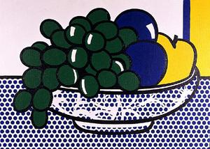 Roy Lichtenstein - 静物与李子