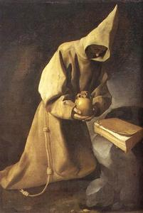 Francisco Zurbaran - 冥想 圣  弗朗西斯