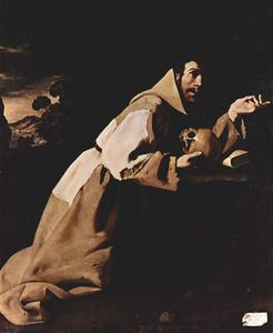 Francisco Zurbaran -  圣弗朗西斯 在  冥想