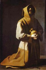 Francisco Zurbaran -  st.  弗朗西斯  跪