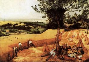 Pieter Bruegel The Elder - 的 玉米  收获  八月