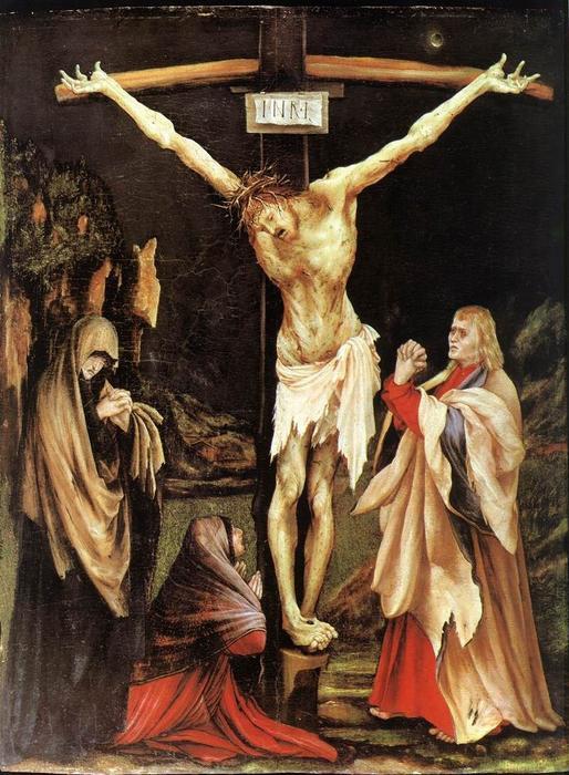的 小 被钉十字架 通过 Matthias Grünewald (1480-1528, Germany) | 幀畫冊專輯 | WahooArt.com