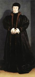 Hans Holbein The Younger - 米兰丹麦的克里斯蒂娜,Ducchess