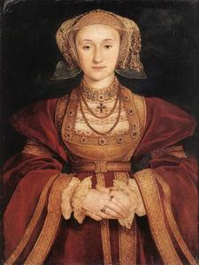 Hans Holbein The Younger -  肖像  安妮 的  克利夫斯