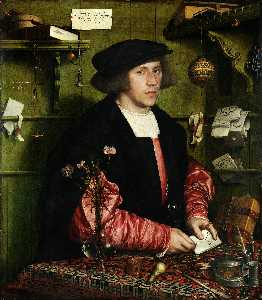 Hans Holbein The Younger - 肖像商人乔治·Gisze的