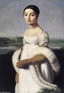 卡罗琳小姐里维埃尔, 油画 通过 Jean Auguste Dominique Ingres  (购买 美術 藝術再現 Jean Auguste Dominique Ingres)