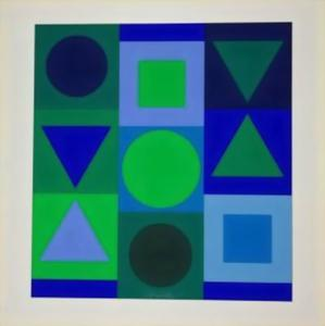Victor Vasarely -  蓝色  和  绿色